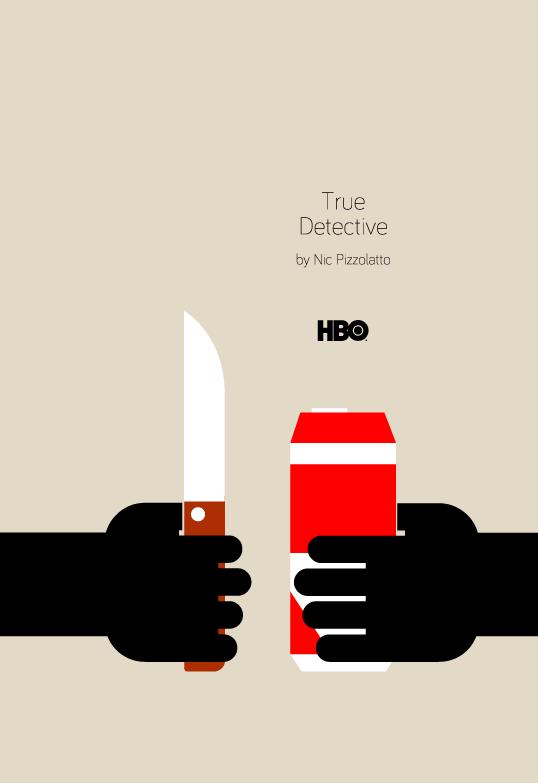 Cartel minimalista True Detective