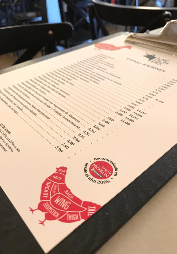 Carta La Cochera