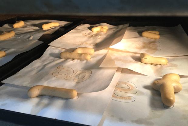 Letras en el horno