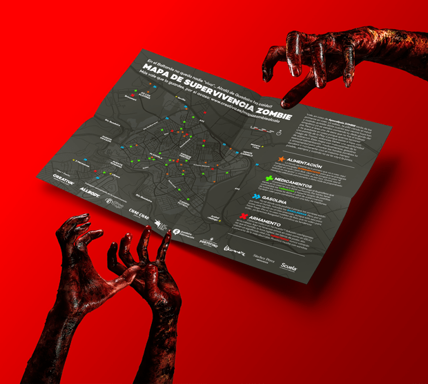 Diseño gráfico del Mapa Zombie Alcalá de Guadaíra